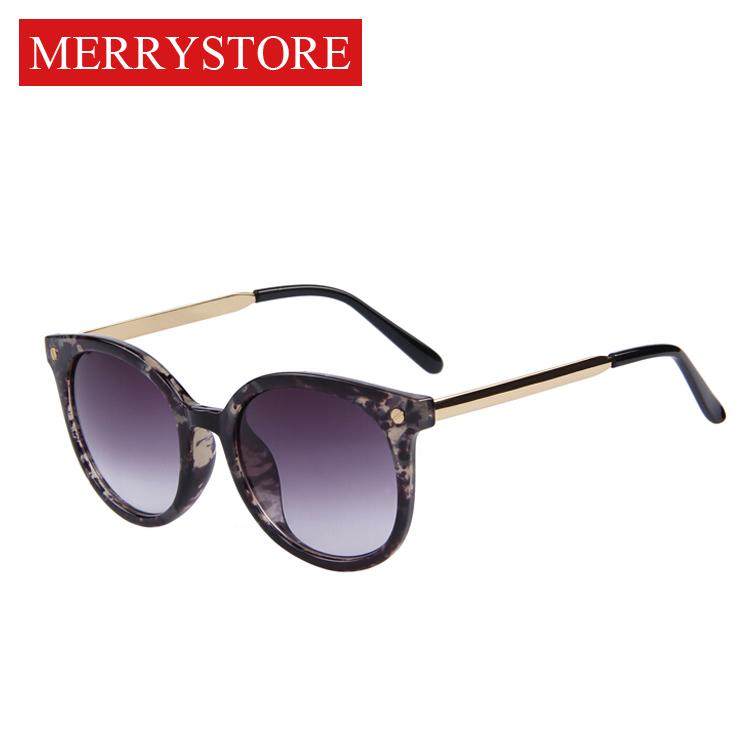 2015 New Brand Design Women Cat Eye Sunglasses Women Fashion Gradient Sunglasses Print Rivet Frame Wrap Cat Eye Sunglasse(China (Mainland))