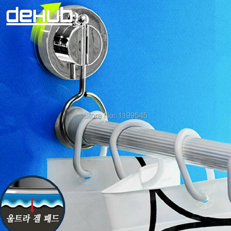 Free shipping vacuum suction cup bathroom rack shower curtain rod hanging ring DEHUB rods stand strong Cornices hanging ring(China (Mainland))