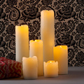 Lovely tear drips battery operated led wax candle lamp for Valentine's Day,wedding party,club shop,home decoration,3 size option