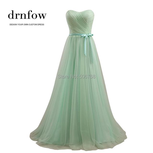 Drnfow 2016 новый милая длинное платье невесты невесты выпускного вечера ну вечеринку ...