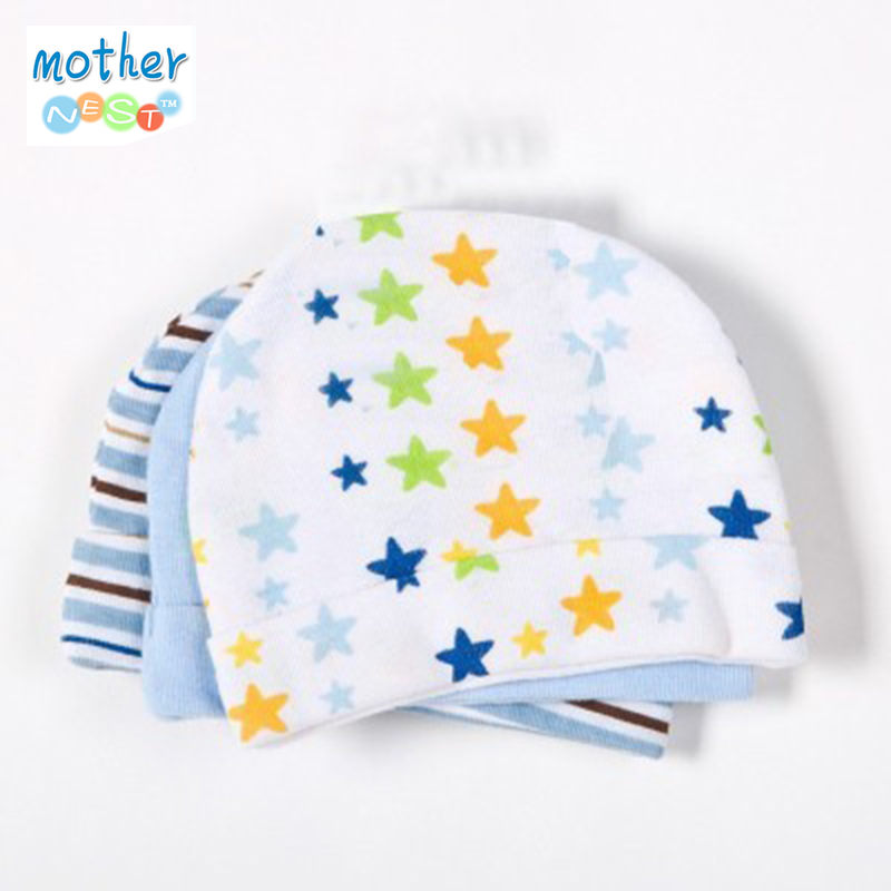 3pcs/lot Baby Hat Baby Cap Infant Cap Cotton Infant Hats Skull Caps Toddler Boys Girls Hats(China (Mainland))