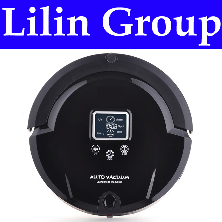 (RU Warehouse)Robot Vacuum Cleaner,Multifunction(Sweep,Vacuum,Mop,Sterilize),LCD,TouchButton,Schedule,Virtual Blocker,SelfCharge(China (Mainland))