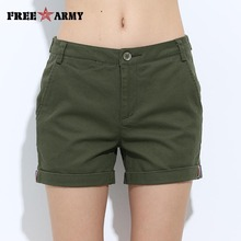 Promotion Women'S Shorts Mini Summer Slim Fitted Casual Shorts Girls Military Cotton Shorts Four Colors Free Shipping Gk-9311(China (Mainland))