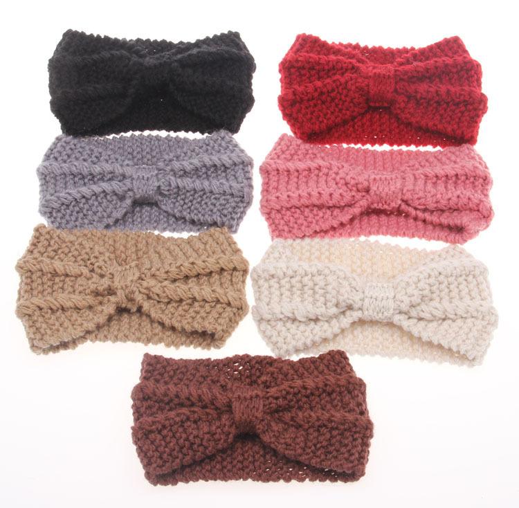 10PCS/LOT Women Twist Crochet Head wrap Headbands Knit Bow Headwrap Turban Accessories Free Shipping TD19(China (Mainland))