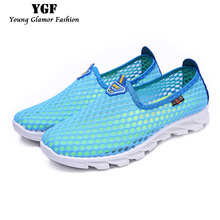 Women Casual Shoes 2016 New Breathable Trainers Summer Flats Women Tenis Slip on Mesh Light Shoes basket for Girls Size 35-40
