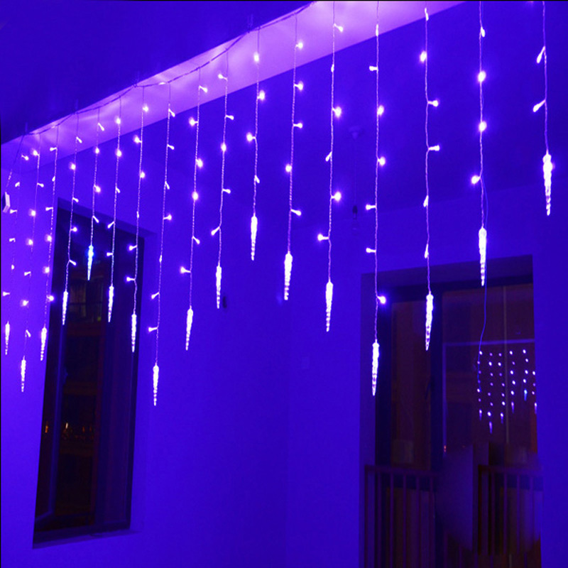 Led Icicle String Lights With Ice Drop : 4m 100SMD 18 icicle Curtain Lights Christmas Led Icicle String Fairy Lights For Home Party ...