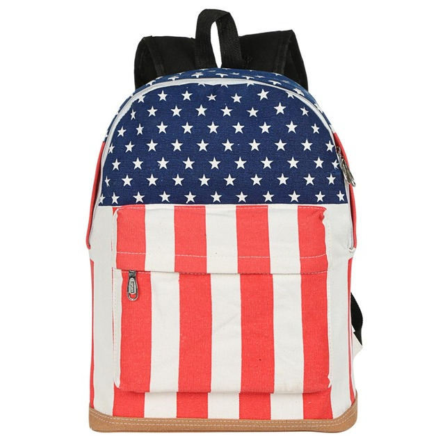 Unisex Backpack Canvas School Bag Book Campus Backpack UK US Flag Wholesale Retail Drop Shipping