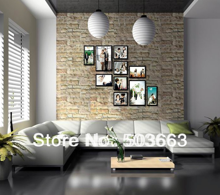 Art home decor set creative combination frame photo wall set cheap price black photo collage - Designs in glasses for house decoration ...