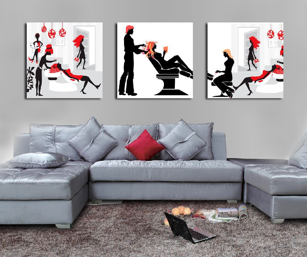 Impression modern fashion girl painting on the living room canvas prints reproduction painting decoration home artwork(China (Mainland))