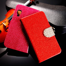 Buy PU Leather Bling Diamond Flip Mobile Phone Case Cover LG Optimus L4 II 2 E440 3.8inch Wallet Case Glitter Holster Shell Hood for $3.00 in AliExpress store