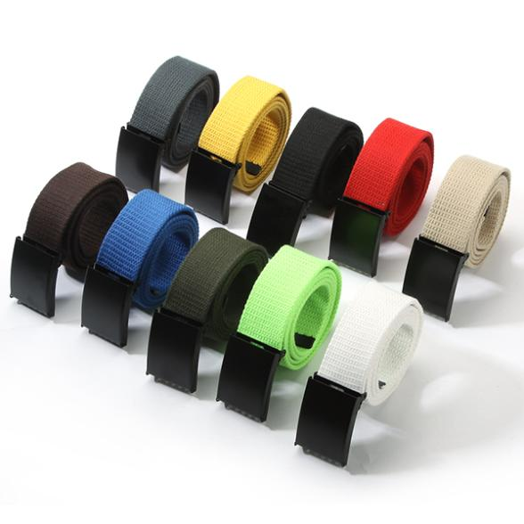 Hot Unisex Waist Belt Mens Boys Plain Webbing Waistband Casual Canvas Belt 10 Colors(China (Mainland))