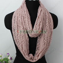 Fashion Stylish Women Girl s Lace Hollow Out Net 2 Layer Infinity 2Loop Cowl Eternity Endless