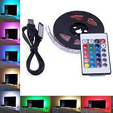 Buy 1M RGB 5050 LED Light Strip Flexible Waterproof 24 Keys Remote Control+USB Background Lighting PC Decoration for $5.99 in AliExpress store
