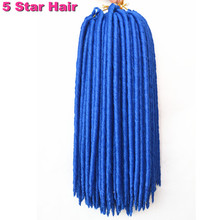 24strands pack Faux Locs Braids Synthetic Hair Faux Dreadlocs Braiding Hair Extensions Havana Twist Braids Soft