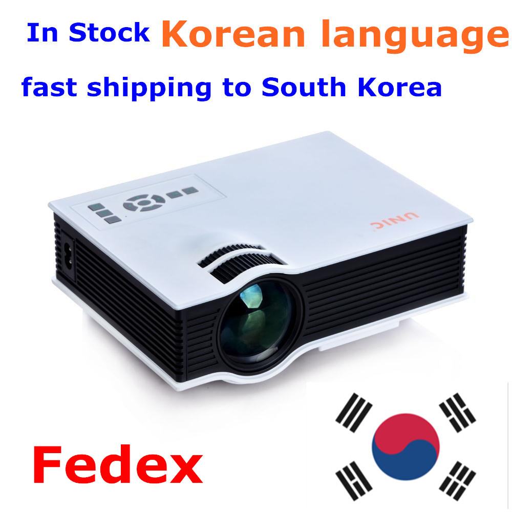 fedex free to korea 2015 New UC40 Projector Mini Pico portable proyector Projector AV A/V USB & SD HDMI Projector Wholesale(China (Mainland))