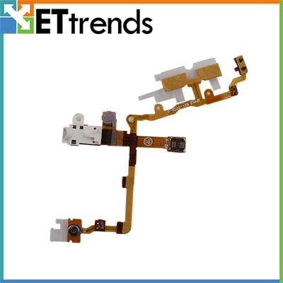Headphone Audio Jack Ribbon Volume Flex cable For iPhone 3GS Black White DHL Free Shipping(China (Mainland))