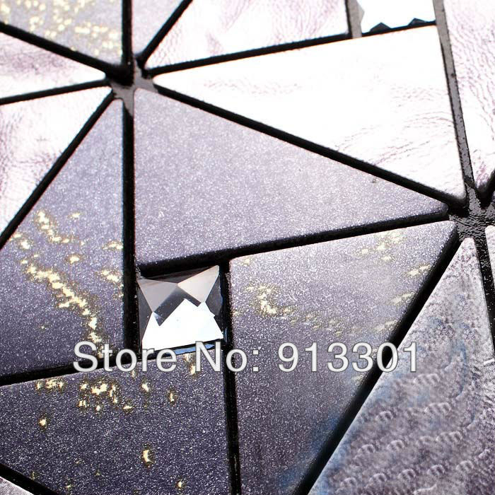 metallic mosaic tile black grey silver js008 backsplash kitchen diamon glass metal blend frosted surface art crystal glass tile(China (Mainland))