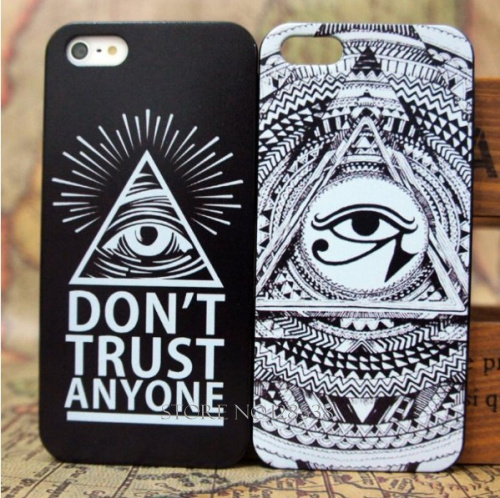 HOT Don't Trust Anyone Eyes Case Cover Evil Eyes Teeth Luxury Hard Cases for Iphone 4 4S 5 5S 5g Back Cover Case(China (Mainland))