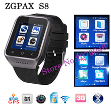 2016 new S8 Smartwatch Android 4.4 MTK6572 Dual Core 512M + 4GB Bluetooth Smart watch support FM Radio Camera GPS WIFI Facebook - ONE store