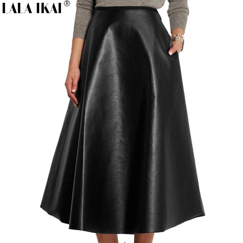 Online Get Cheap Black Leather Skirt Long -Aliexpress.com ...