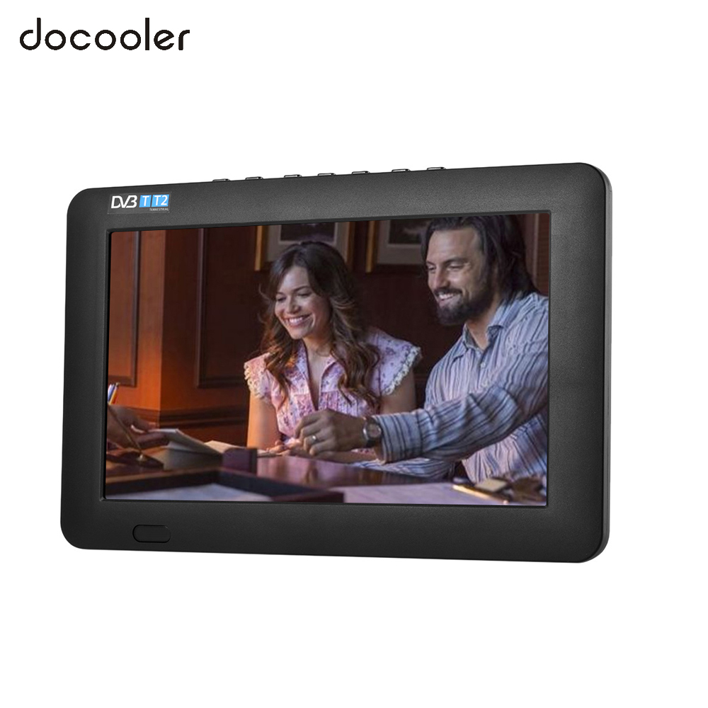 9 Inch Portable DVB-T T2 TV Player 800 * 400 TFT LCD Screen Support Digital and Analog TV w/ 1200 mAh Battery w/ AV /USB/TF Card(China (Mainland))