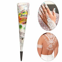 New White Henna Tattoo Paste Cone Women Lady Bride Party Wedding Indian Mehndi Cream Hand Body Nail Paint 30g/pc(China (Mainland))