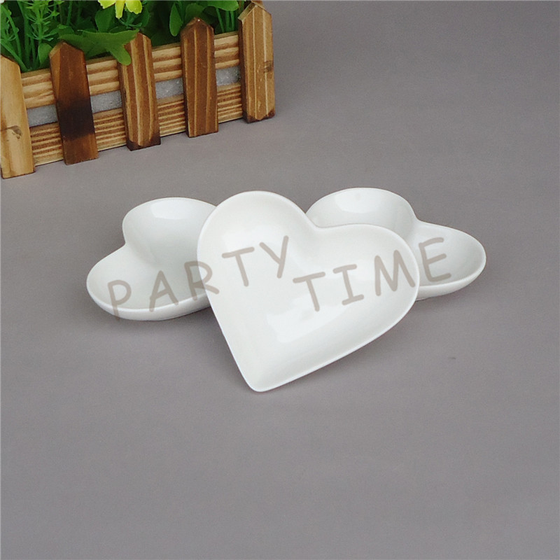 Heart Dish, Porcelain White Mini Heart Shape Dish, Serving Dish(China (Mainland))