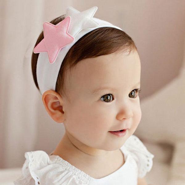 1 PC Pink White Kids Girl Baby Toddler Newborn Cute Star Headband Headwear Hairband Accessories Newly Hair Band Accessories(China (Mainland))