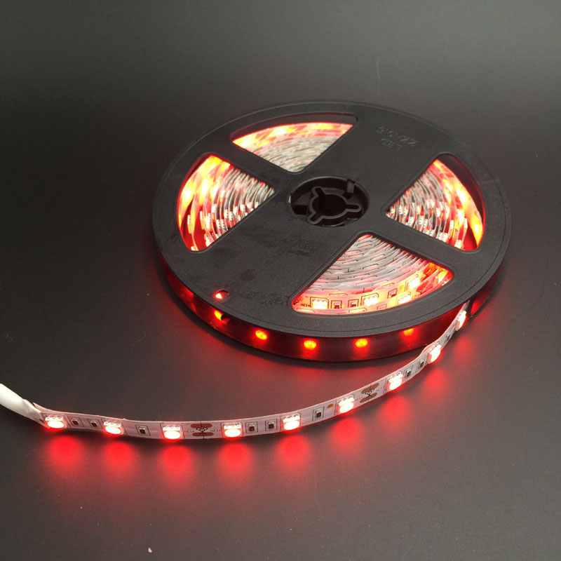 60 leds/m 5050 LED strip 5050 12V flexible light ,5m/lot Warm White,White,Blue,Green,Red,Yellow,RGB(China (Mainland))