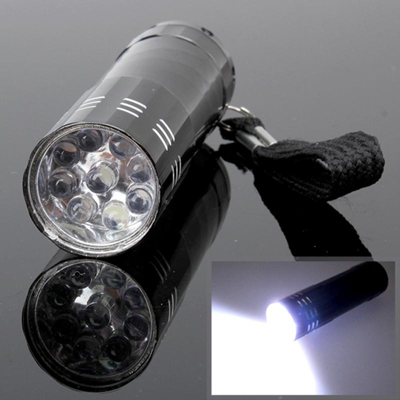 Гаджет  9 LED Mini Flash Ultra Bright light Torch Black CLSL None Свет и освещение
