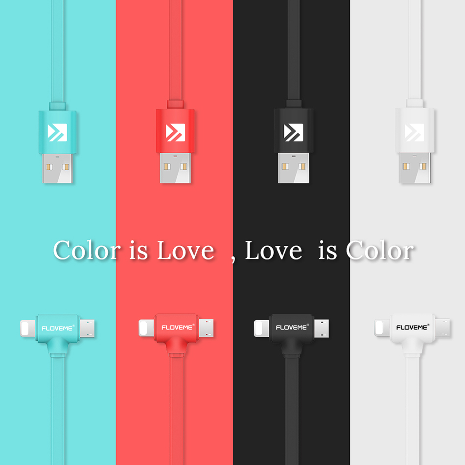 FLOVEME USB Cable Charger For iPhone 6 6s 7 Plus Mobile Phone Micro USB Charger Data Sync For Samsung Xiaomi Huawei Accessories