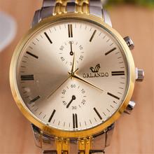 2015 Free shipping relogio masculino quartz watch Full steel Sliver strap men s watch high quality