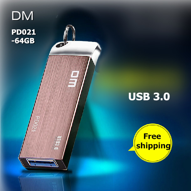 DM PD021 USB Flash Drives 64GB Metal USB 3.0 High-speed Pen Drive Waterproof Business Pendrive 64G USB Stick Free shipping(China (Mainland))
