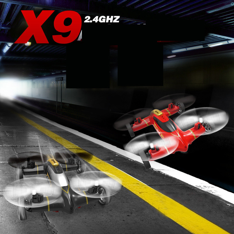Syma X9 2.4G 4CH 6Axle Speed Switch With 3D Flips Flying Car RC Quadcopter Helicopter<br><br>Aliexpress