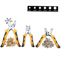 3pcs set Punch Belt Holes Punches Plier Duty Leather Hole Punch Hand Pliers with setting tool