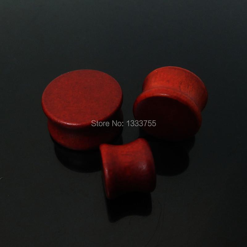 High quality new arrive 1pair gauges original wood ear expander saddle colors ear plug free shipping(China (Mainland))