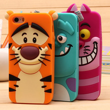 For S4 S4 Mini S5 S6 S7 S3 Cases For Samsung Galaxy S3 Mini Note 3 4 A3 A5 A7 Cute Sulley tiger Alice Cat Silicon Phone Case(China (Mainland))