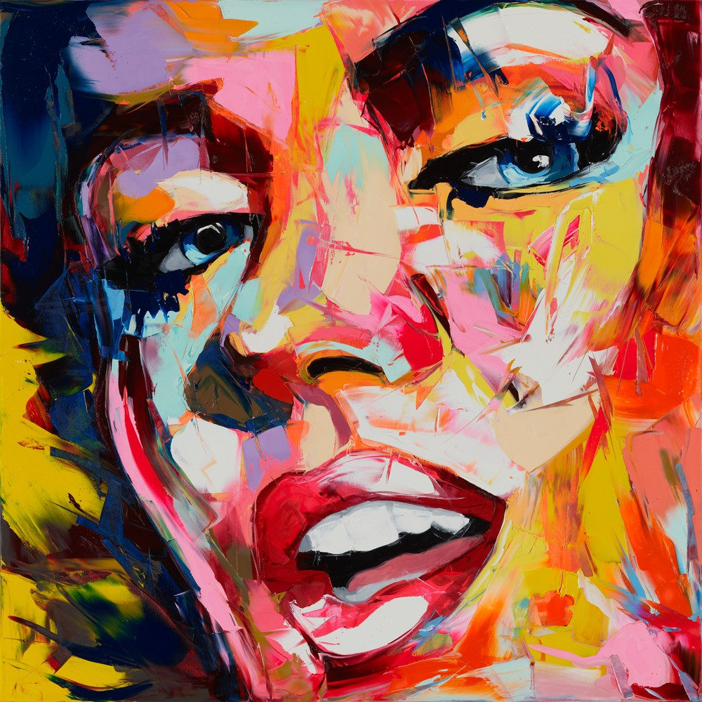 Buy Nielly Francoise Designer Abstract Hand Painted Knife Palette Picture Home Decoration Living Room Oil Painting Canvens Cool Face cheap