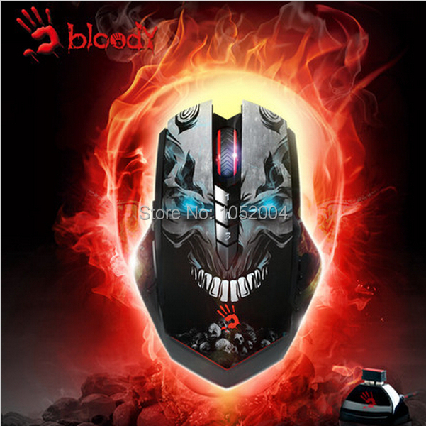 A4Tech Bloody Hands Wireless Dota 2/ LOL/WOW/Hearth Stone Gaming Mouse 3200DPI Mice for Laptop Notebook Desktop PC Gamer