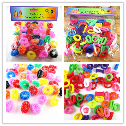 1bag Colorful Child Kids Hair Holders Cute Candy Rubber Bands Hair Elastics For Lovely Girl's Charms Tie Gum(China (Mainland))