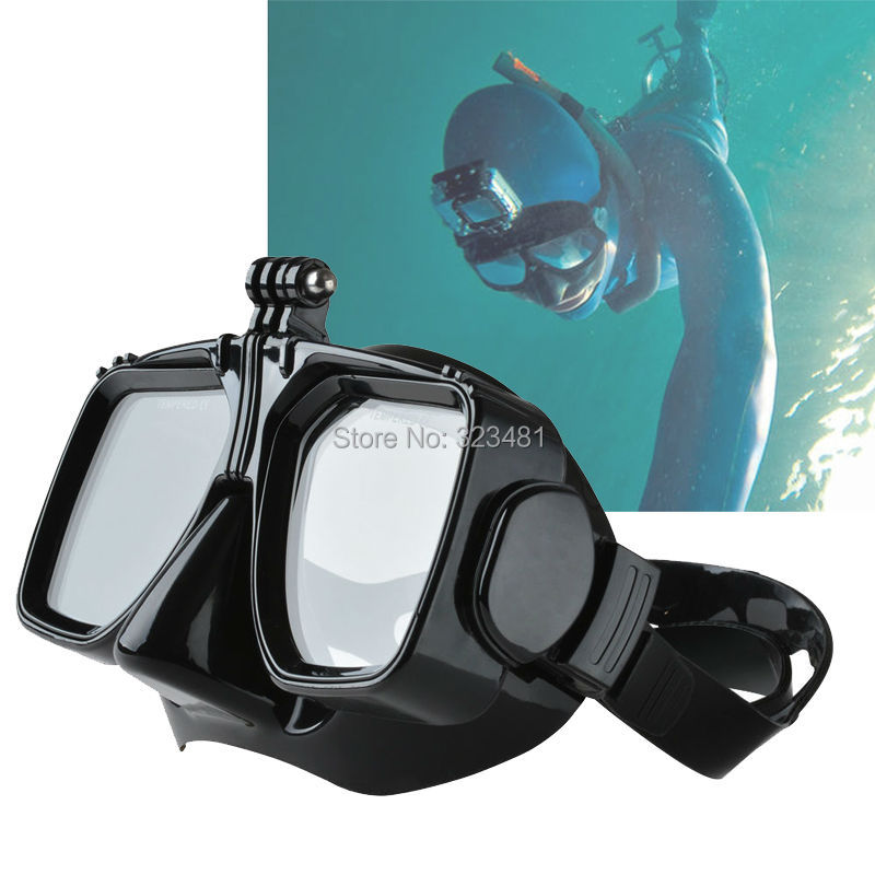 Scuba Diving Mask Equipment for Surfing with Holder for Gopro Sport Camera Women Men Snorkel Spearfishing Glasses Mask(China (Mainland))