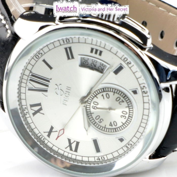 HK Post Or SG Post 5 Pieces/ Lot Automatic Mechanical Skeleton Date Black Leather Wrist Men's Watch IF-003(China (Mainland))