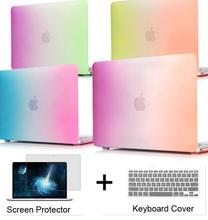 Matte Rainbow Hard Protector Case for Macbook air 11/ 13 inch,cover for Macbook Pro 13 /15 inch for Macbook Pro Retina 12 13/15(China (Mainland))