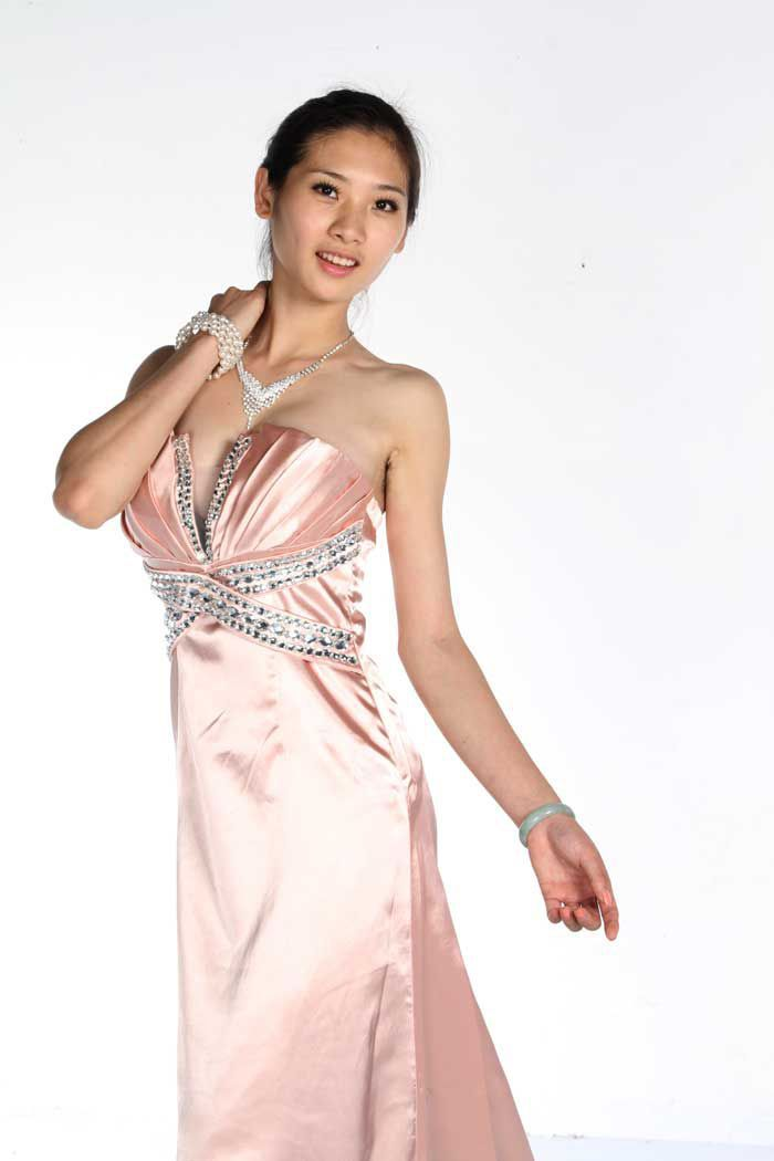Woman clothes long prom formal dresses sequins silk v neck for V neck strapless wedding dress