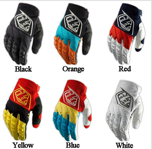 Free Shipping Troy Lee Designs TLD motocross gloves mountain bike riding full finger gloves motorcycle racing gloves 6 Colors(China (Mainland))