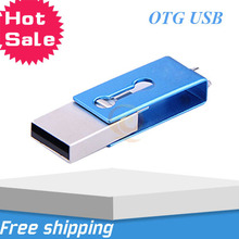 High quality Metallic 360 degree OTG USB flash drive 8GB for OTG function Android Smartphone pen drive usb stick memory drive