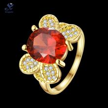 R731 A 8 Kingwin 2015 new design synthetic ruby cz diamond big multi color birth stone