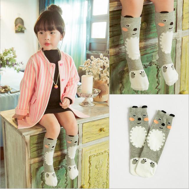 1 пара хлопок детские носки высокое качество колено носок малыша девушки мальчик ...