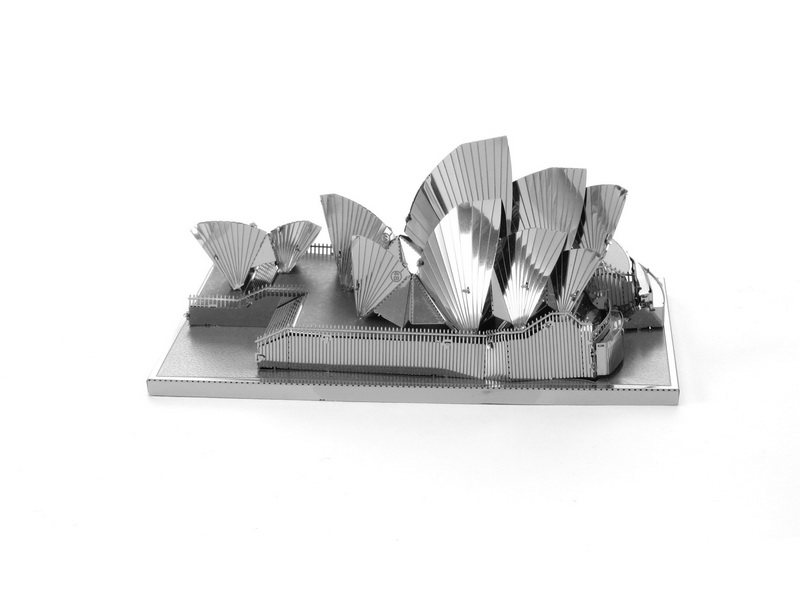 3D Metal Puzzles Canada Sydney Opera House DIY Model Toy Assembled Model Children's Building Toy Puzzles for Adult Gifts(China (Mainland))