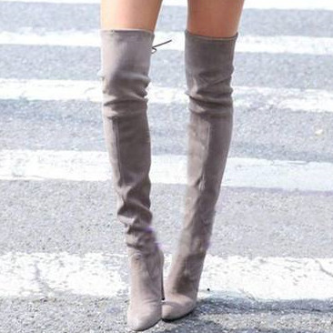 2015 fashion winter high heels bowtie women over the knee boots classic sheepskin thin heels pointes toe genuine leather boots(China (Mainland))